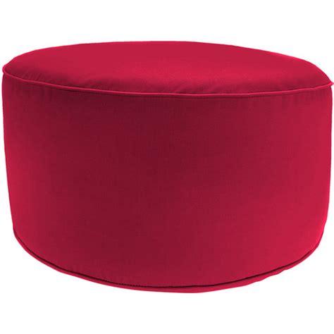 round red ottoman round outdoor pouf ottoman pompeii red walmart com