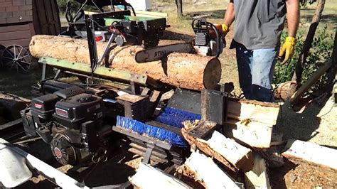 homemade firewood processor youtube