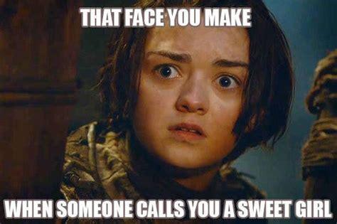 Arya Meme - a girl is arya stark of winterfell and i m going home