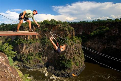 gorge swing zambia high wire activities in falls bungee swing
