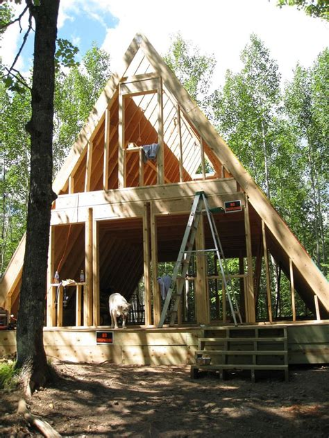 cabin building our a frame cabin dom cabin house and