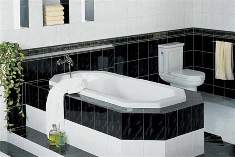 Bathroom Shower Curtain Decorating Ideas Black And White Bathroom Decorating Ideas Home