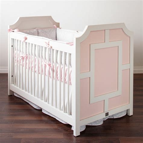 White Bellini Crib by Stella Collection Crib In Pink White Bellini