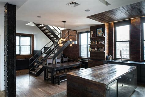 home design in nyc brutal industrial masculine penthouse in new york digsdigs