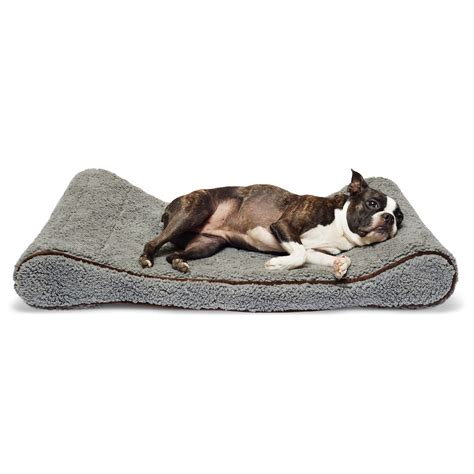 sherpa dog bed precioustails sherpa top memory foam orthopedic contoured