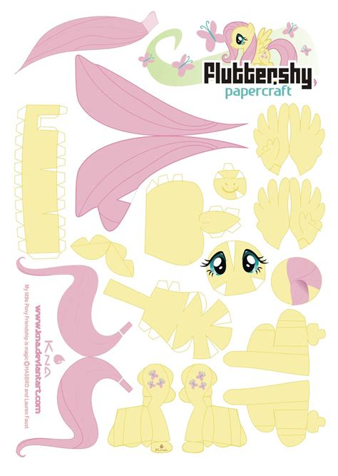 My Paper Crafting - fluttershy papercraft by kna on deviantart