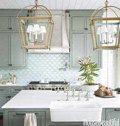 house beautiful ocean inspired kitchen urban grace 1000 ideas about color kitchen cabinets on pinterest
