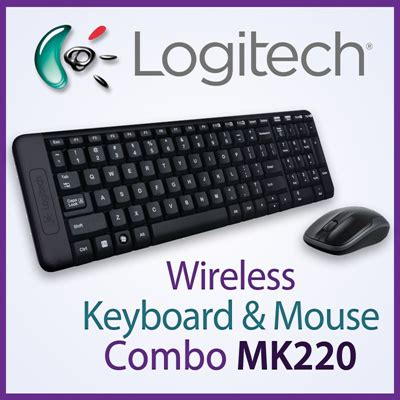 Logitech Wireless Desktop Mk220 Combo Keyboard Mouse Wireless qoo10 original logitech wireless keyboard mouse mk220 combo mk 220 cordles computer