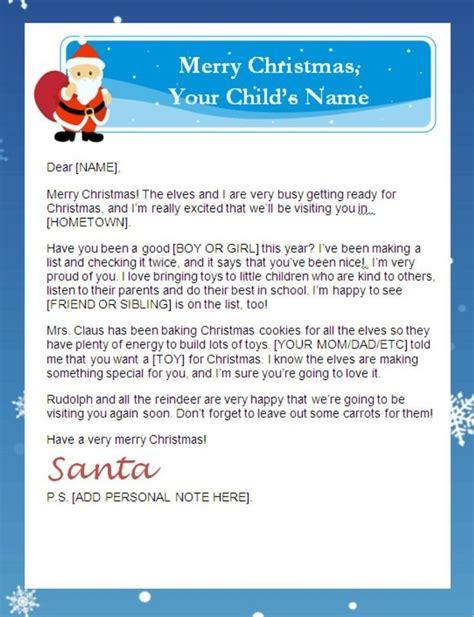 free printable letter from santa australia letter from santa australia sle letter template