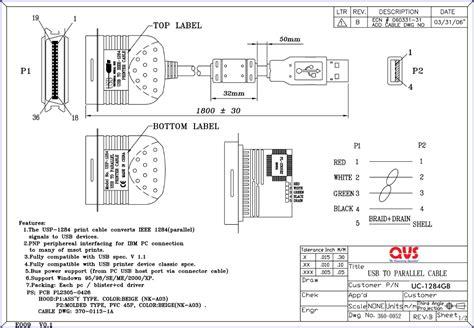 Qvs Parallel Hi Speed Ieee1284 Cables