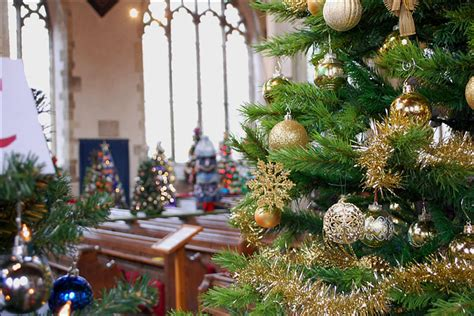 bbc decorated christmas tree festival at st thomas church