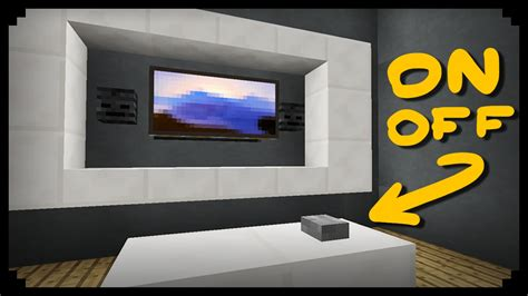 how to build a tv minecraft how to make a working tv youtube