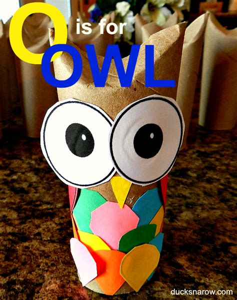 Paper Roll Crafts For Preschoolers - o is for owl toilet paper roll crafts paper roll crafts