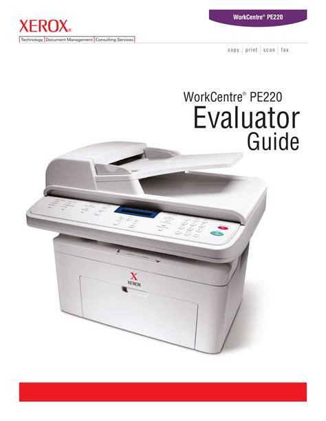 Toner Xerox Pe220 free pdf for xerox workcentre pe220 multifunction