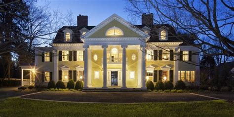 neoclassical homes the four columns are common in the neo classical house
