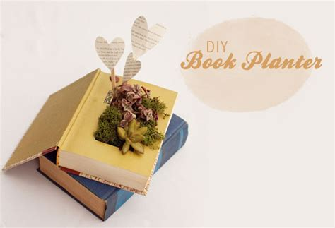How To Make A Book Planter by Diy Book Planter With Succulents Green Wedding Shoes