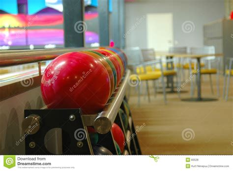 Bowling Pin Rack by Bowling Balls On A Rack Royalty Free Stock Photos Image