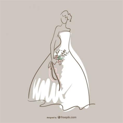 dress design vector wedding dress vector art vector free download
