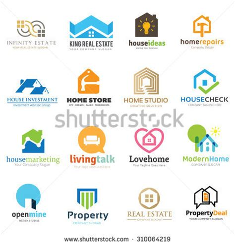 house and home real estate home real estate logo collection house stock vector 310064219 shutterstock
