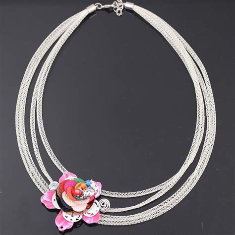 8 Pretty Necklaces For Summer by Aliexpress Buy Bonsny Flower Chain Necklace For