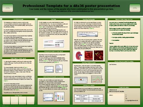 free powerpoint poster template scientific poster templates ppt