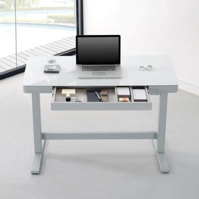 glass top adjustable height desk best 25 adjustable height desk ideas on