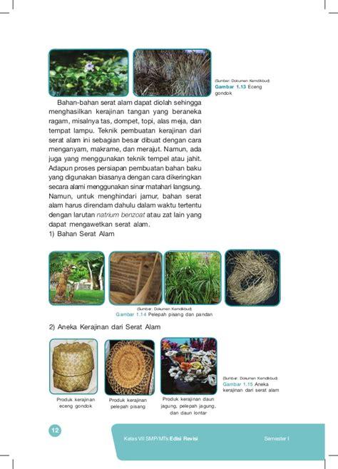 Photo Frame Pigura Enceng Gondok 1 buku prakarya kelas vii emester 1
