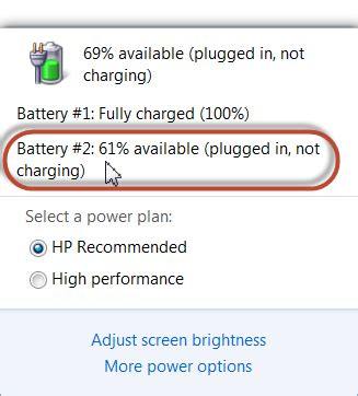 hp laptop battery plugged in not charging 0 battery