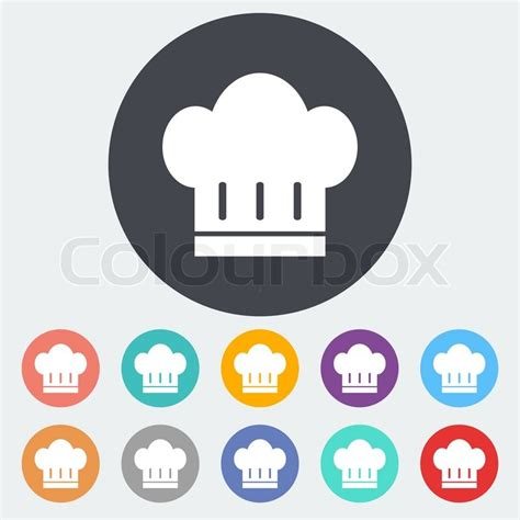 Home Design Jobs Kitchener chef hat single flat icon on the circle vector