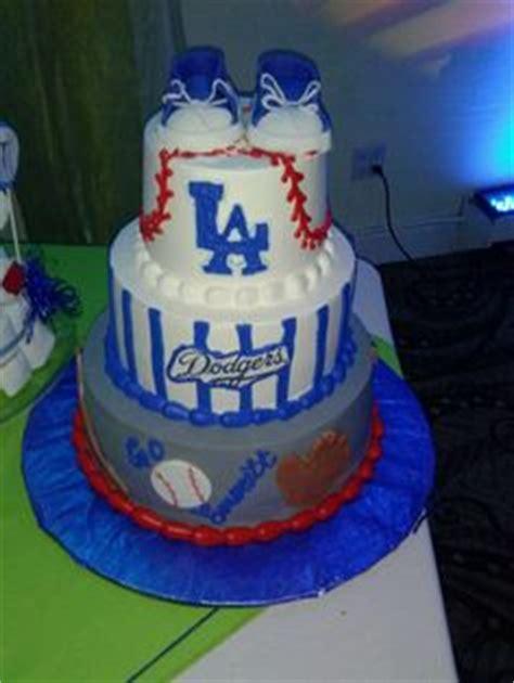 baby shower cake los angeles dodger theme baby shower on dodgers dodgers