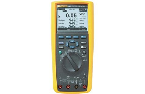 Multimeter Fluke 287 fluke 287 digital multimeter with trend plotter techedu