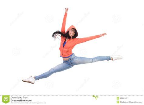 Jumps Slit happy split jump stock photo image 40351649