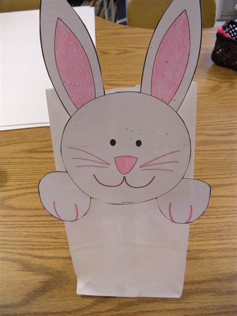 paper bag bunny template best photos of paper bag easter baskets template