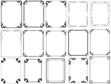 picture frame templates for photoshop 18 free frames and borders photoshop templates images