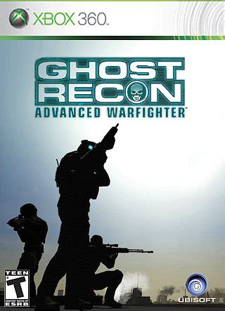 tom clancy's ghost recon: advanced warfighter xbox 360 box