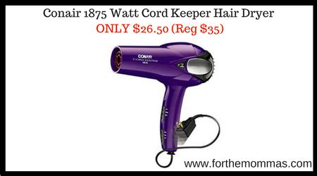 Conair Hair Dryer Printable Coupon conair 1875 watt cord keeper hair dryer only 26 50