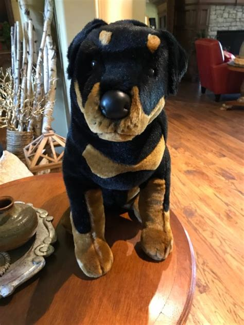 rottweiler cuddle rottweiler plush shop collectibles daily