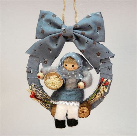 Handmade Country Ornaments - country style doll ornament handmade