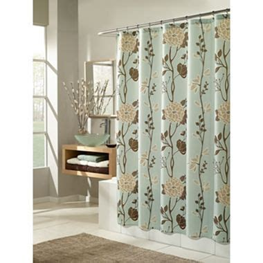 Jcpenney Bathroom Shower Curtains Shower Curtain Black White