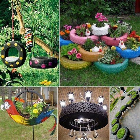 Garden Using Tires Hanging Garden Using Or Tires Save Our Green