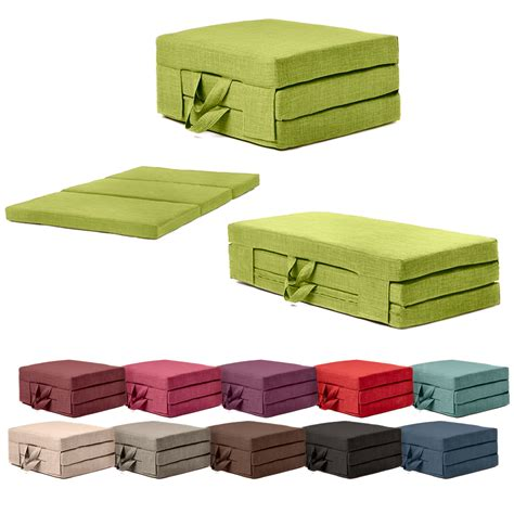 foldable futon fold out guest mattress foam bed single double sizes