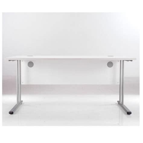 desk essentials for essentials white rectangular desk white office desks uk