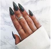 Dark Green Stiletto Nails Pictures Photos And Images For