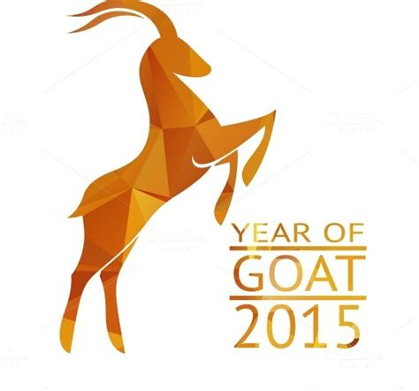 new year goat goat new year 2015 sign illustrations on creative market