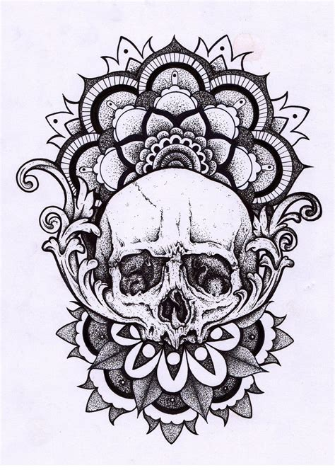 skull mandala cool stuff pinterest