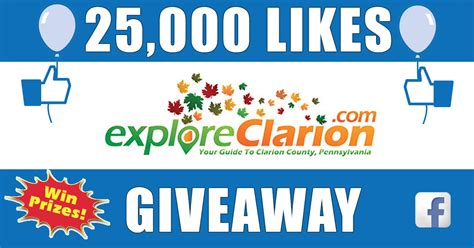 Facebook Account Giveaway - exploreclarion com clarion county s 1 source for news and information