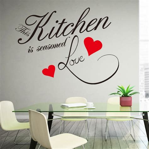 wall sticker quote kitchen heart home dining room large