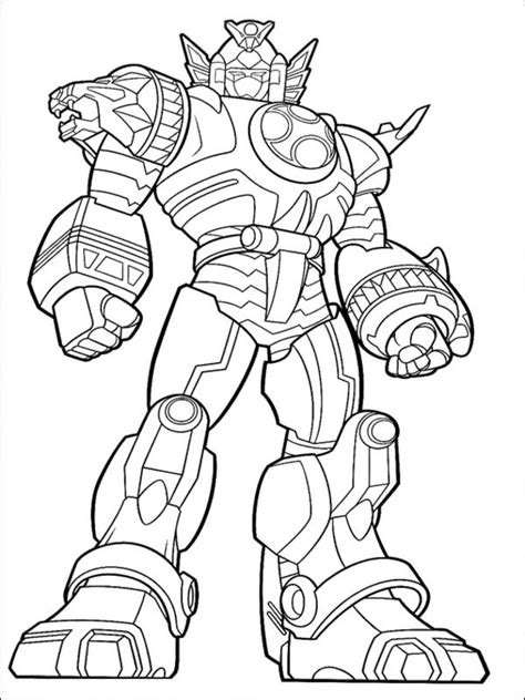 power ranger ninja storm megazord coloring pages coloring