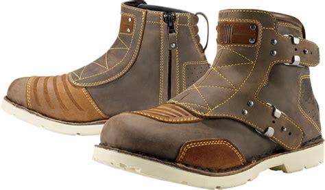 brown leather motorcycle boots icon 1000 el bajo leather motorcycle boot brown