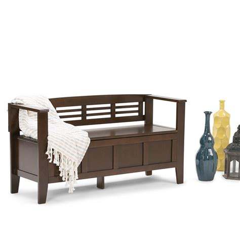 entry room benches entryway storage bench in rustic brown 3axcadaben